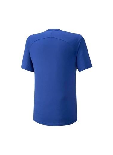 Mizuno Shadow Tee Erkek T-shirt Mavi Mavi